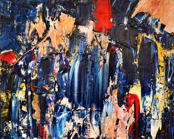 Abstract Art. Title: Break Free, Acrylic on Canvas, 24x36 in by Contemporary Canadian Artist David Hovan.