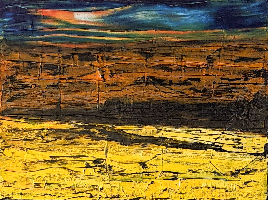 Abstract Art. Title: Third Beach, Original Acrylic on Canvas,18x24 in by Contemporary Canadian Artist David Hovan.